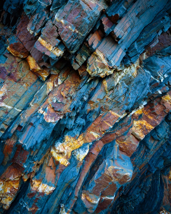 Rocks in Sandymouth Bay, Cornwall