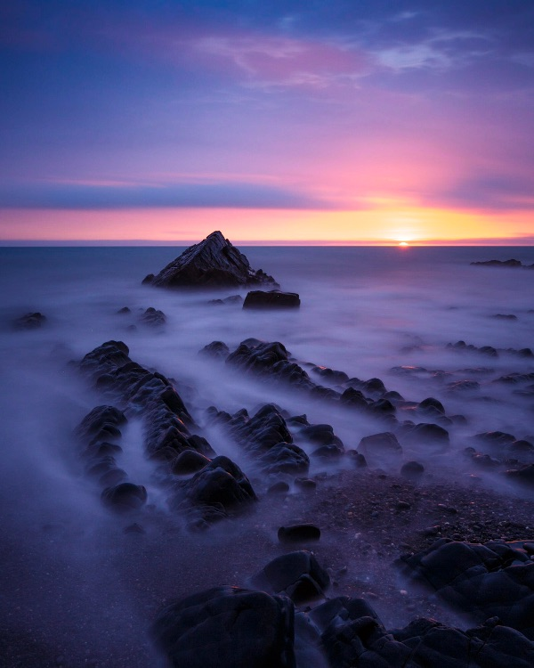 Sandymouth Bay, Cornwall, sunset