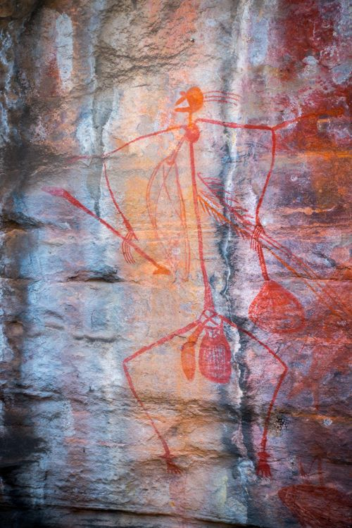 Aboriginal rock art, Kakadu, Northern Territory, Australia