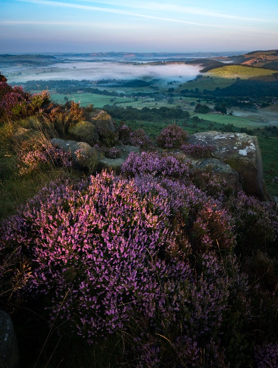 The Derwent valley from Baslow Edge