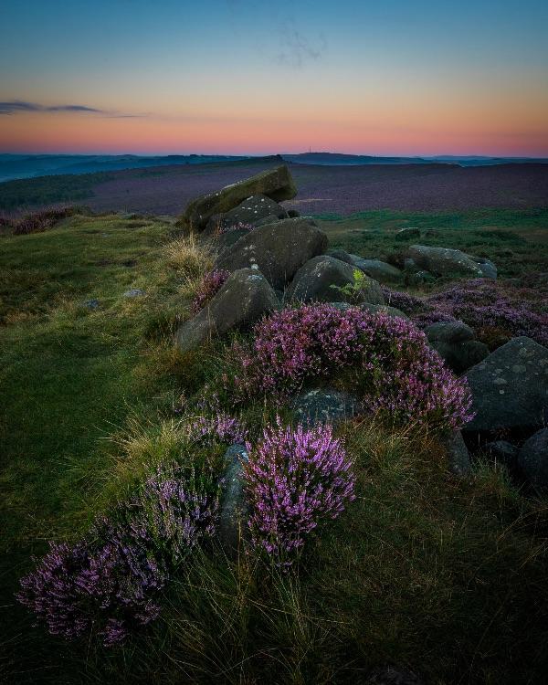 Dawn on Carl Wark hillfort