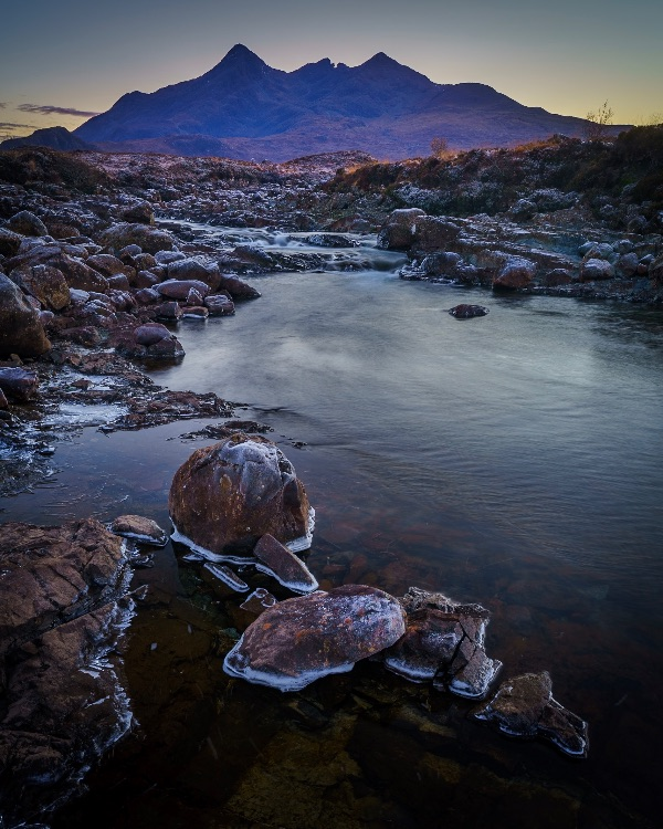 The Cuillins from Sligachan, evening