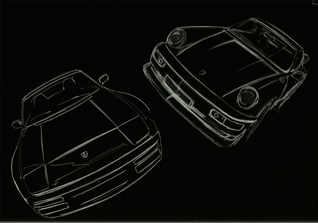 911 and 944 front end character sketches