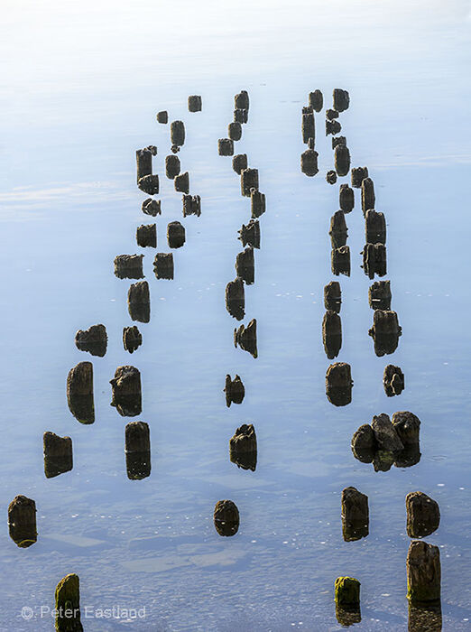 Old pontoon supports, Lake Ohrid, North Macedonia.<br><br><br><br><br><br>