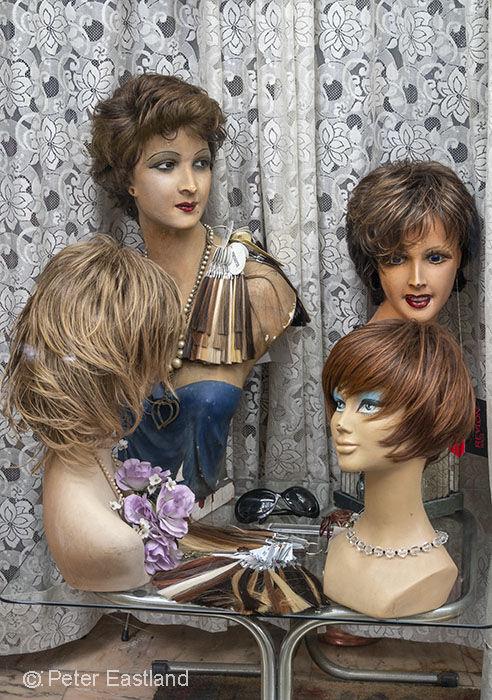 Wig shop, Rome, Italy.<br><br><br><br><br><br>