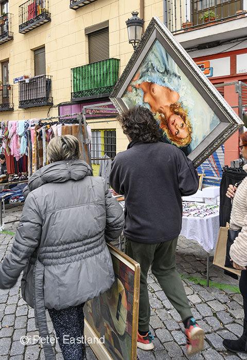 El Rastro flea market, Madrid, Spain.<br><br><br><br><br><br><br><br>