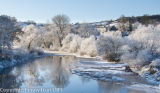 The River Wye at Bredwardine with Hoar Frost