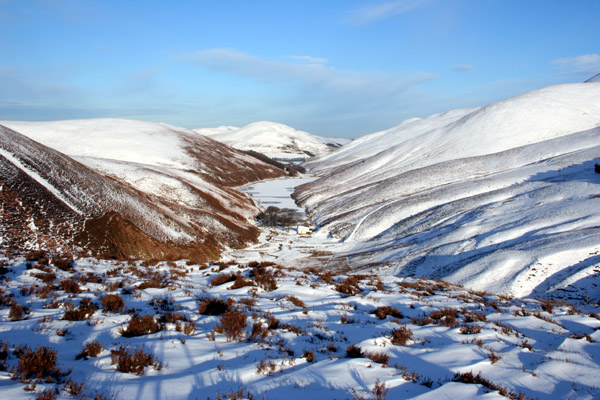 Snowy Pentland Hills from The Howe