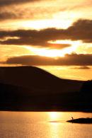 Sunset and Cormorant on Threipmuir Reservoir