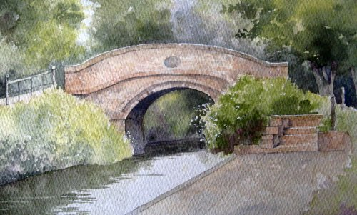 The bridge at Castle Fields, Calne
