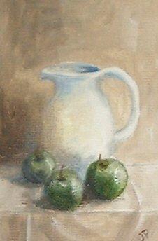 Green Apples, White Jug