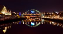 Newcastle Quayside,Tyne Bridge, Rugby world cup