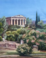 The View of the Temple of Hephaestus in Ancient Agora
