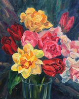 Still Life with Tulips and Daffodils