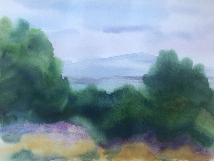 Sea View Through the Pines - £100