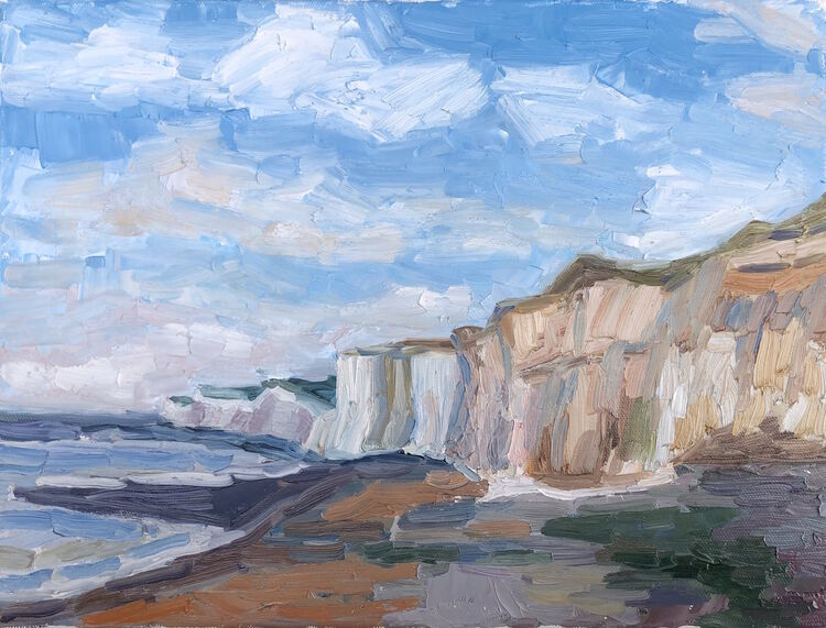 View to the Birling Gap Chalk Cliff