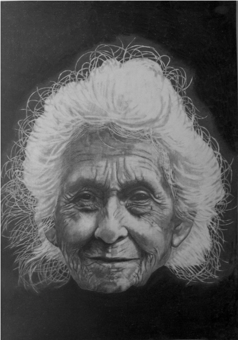 Mrs Anderson 2010 Graphite on paper