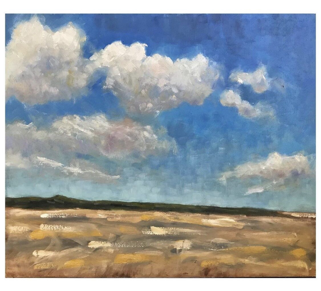expressive oil painting of Brancaster Beach
