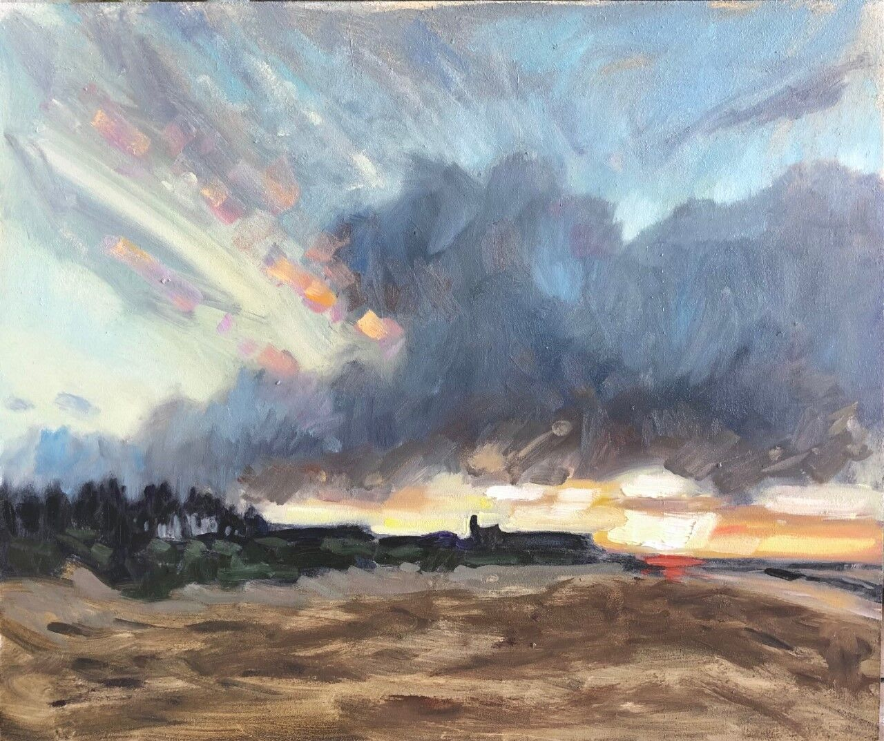 Winter Sunset at Old Hunstanton (sold)