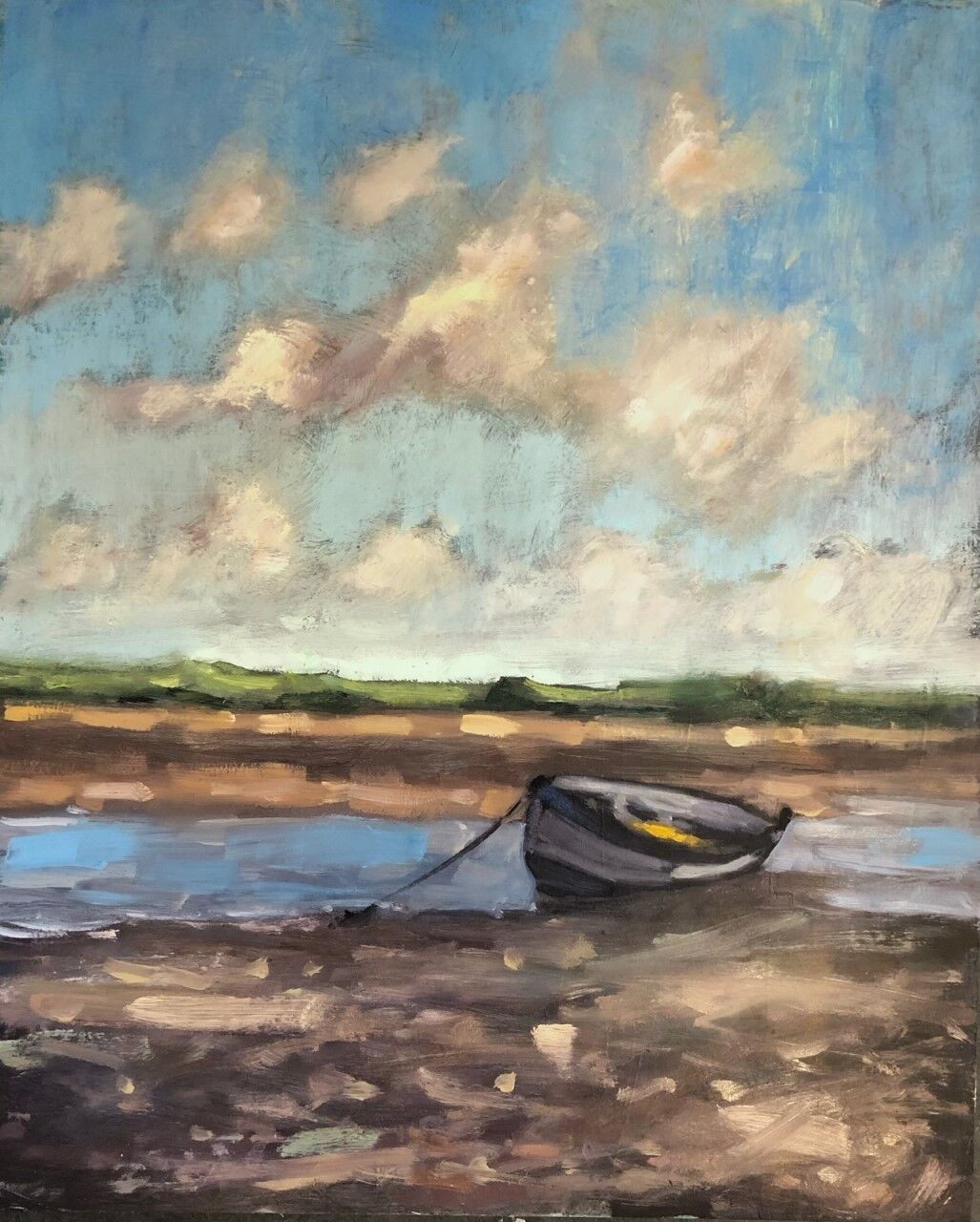 Boat at Overy Staithe