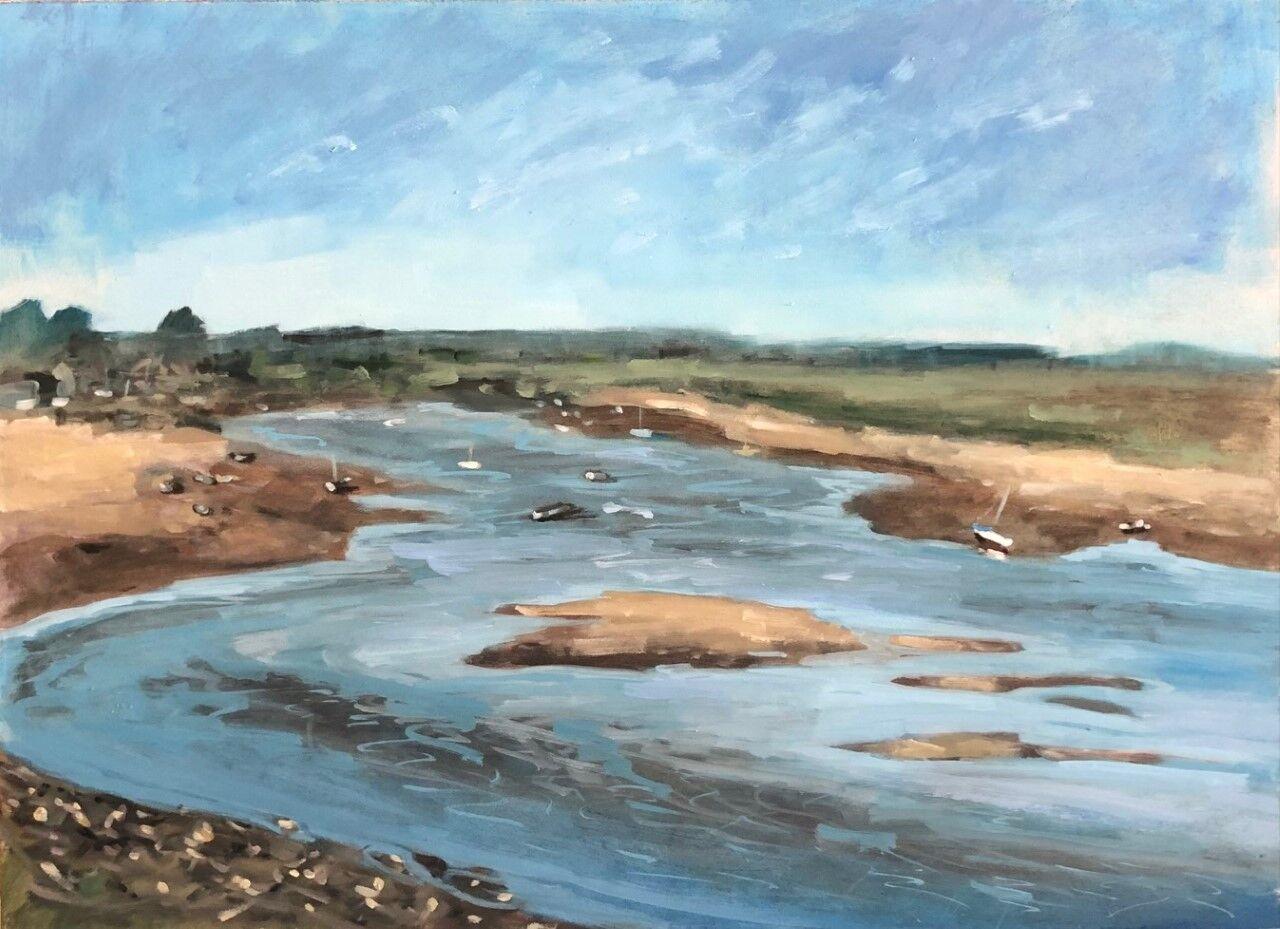 Turning tide, Burnham Overy Staithe (sold)