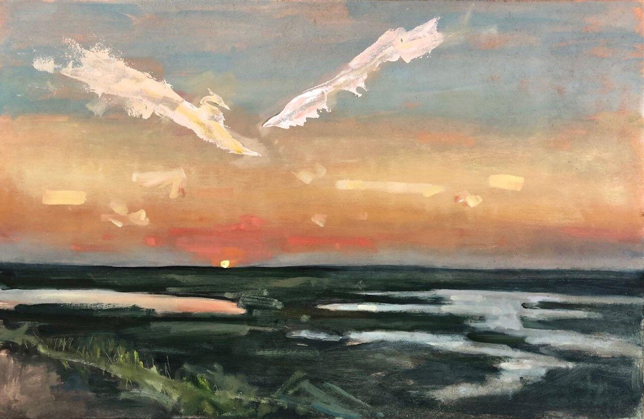 Sunset from Brancaster coastal path