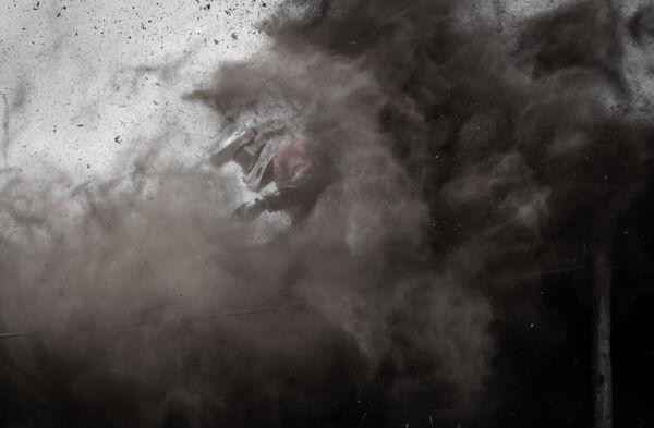 Scrambler in the dust