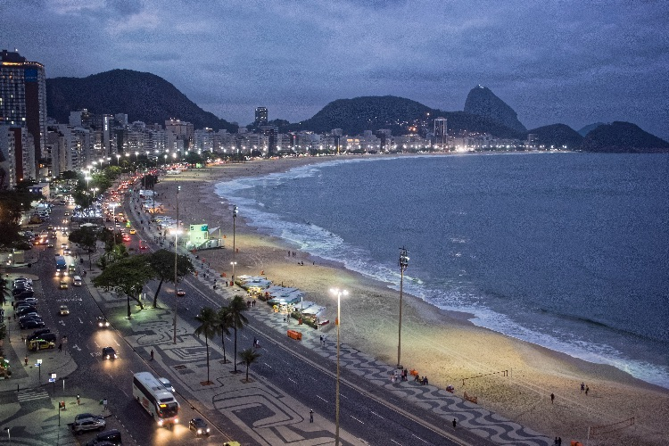 Copacabana Beach at sundown