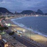 Copacabana Beach at sundown