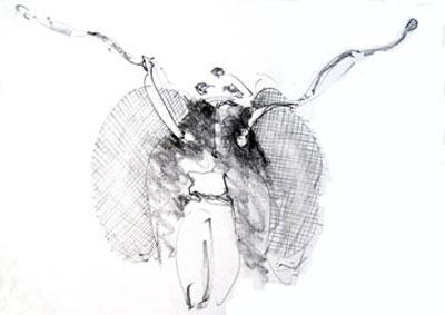 bee head drawing 1