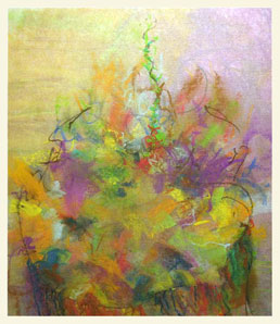 MOTHER TREE 5  double-layered drawing - pastel+graphite on tissue paper over card