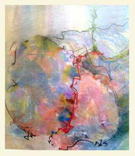 NURSE LOG 2 double-layered drawing - pastel+graphite on tissue papper over card