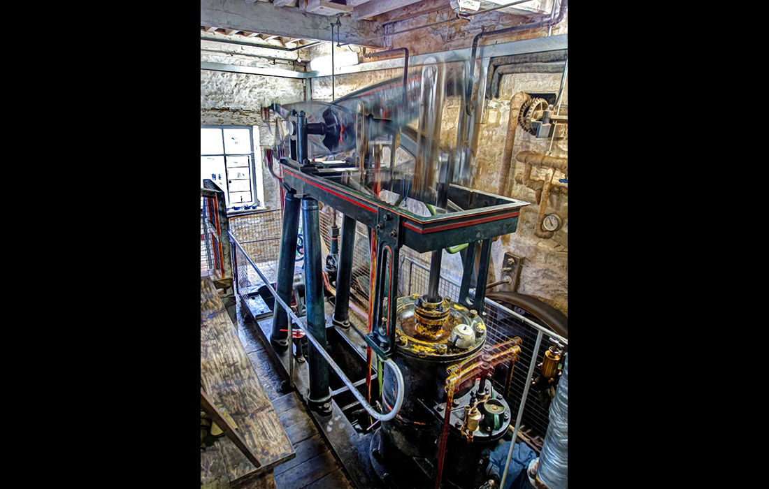 Beam engine in steam, built 1856 for Blenheim Palace