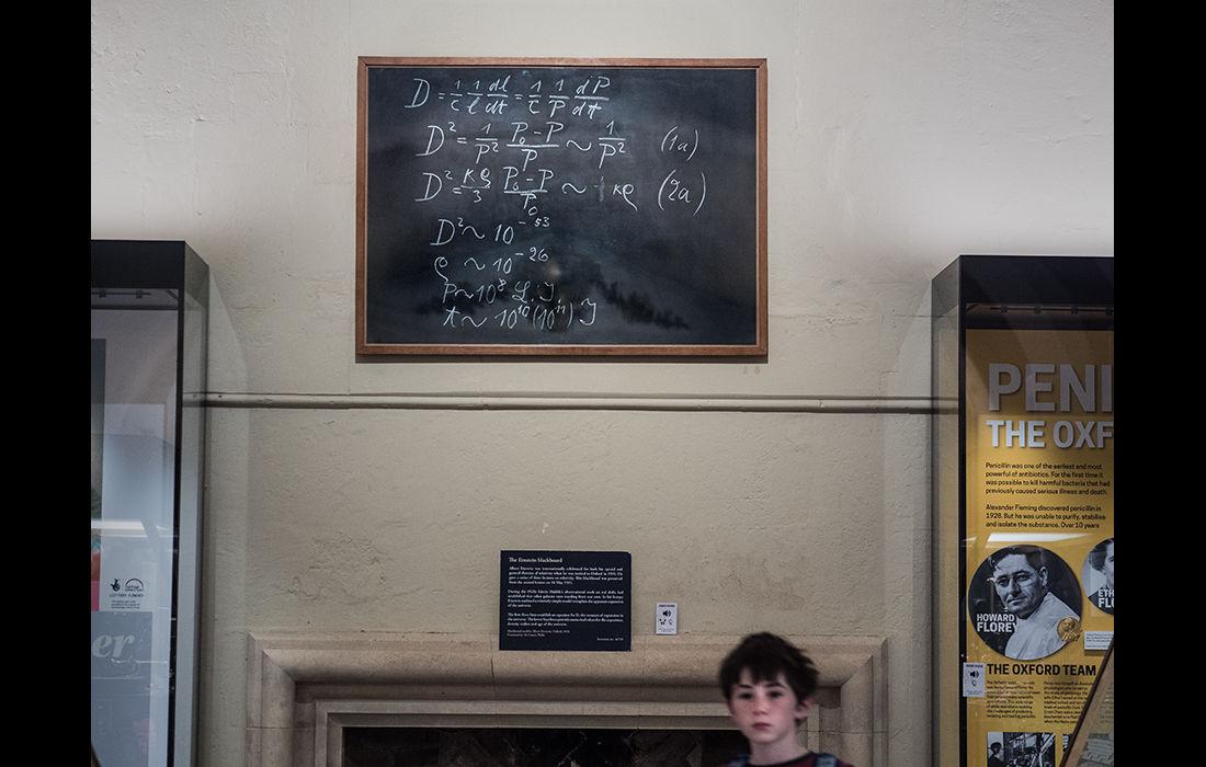 Blackboard, written by Albert Einstein when visiting Oxford in 1939