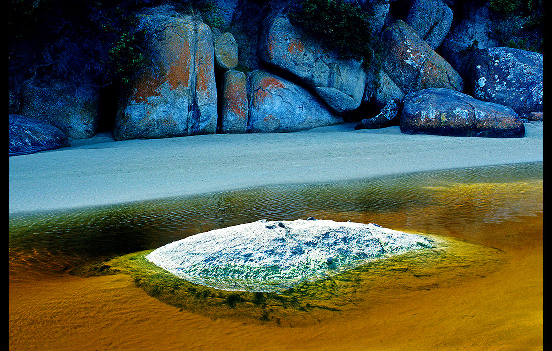 Brown beach stream, Wilson's Promontary,  Australia