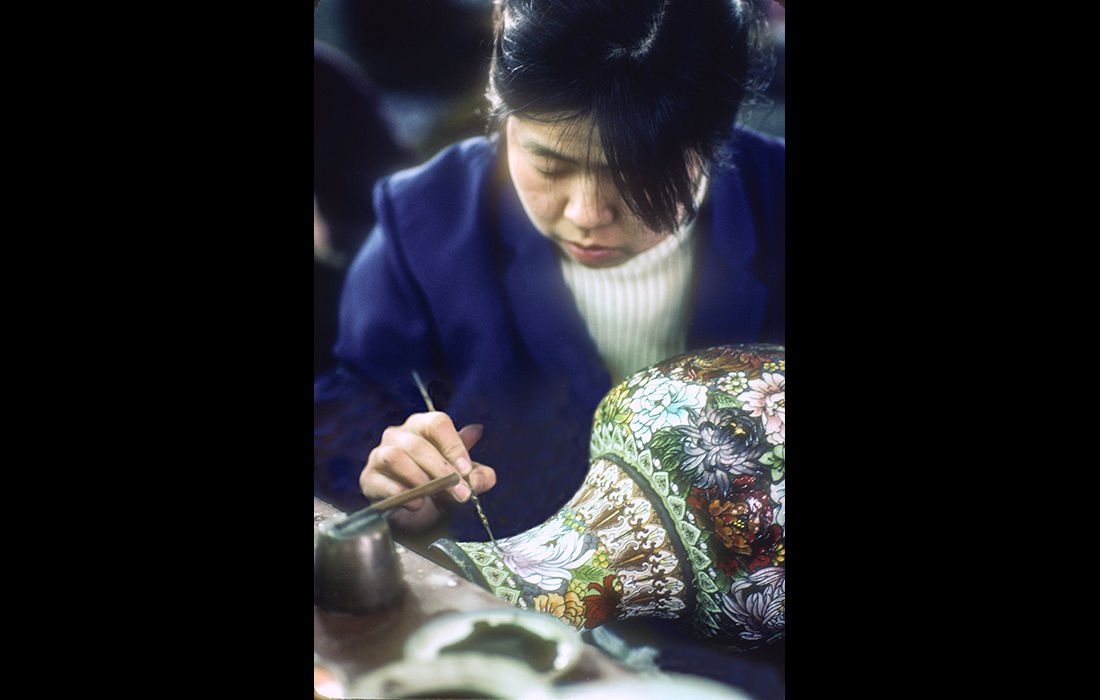 Cloisonne factory, Peking 1982