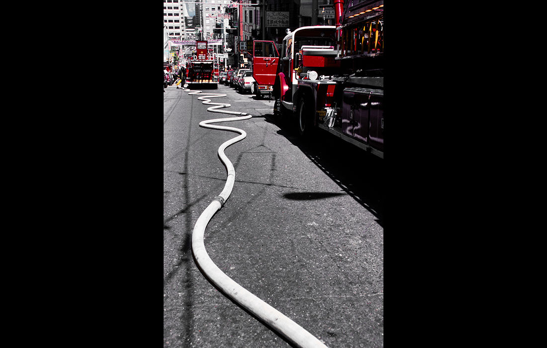 Fire hose, New York c.1976
