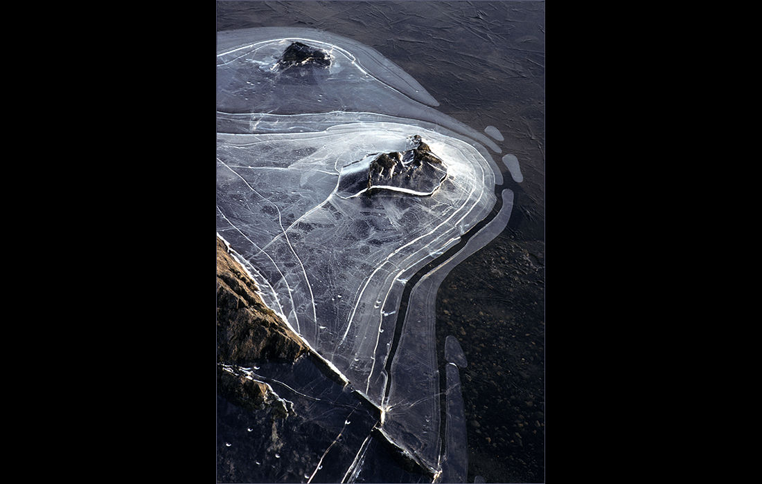 Ice on the edge of Tarn Hows, Cumbria c.1987