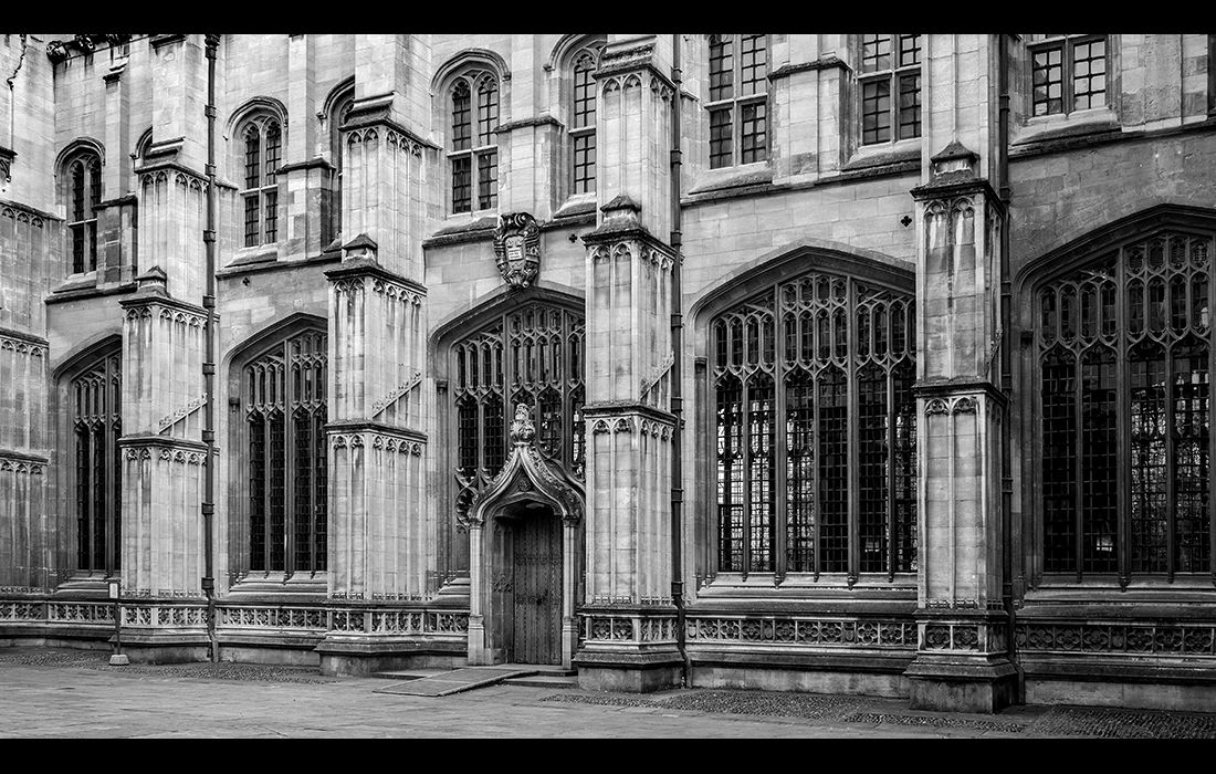 The 15th.century Divinty School, Oxford (the door was added by Wren)