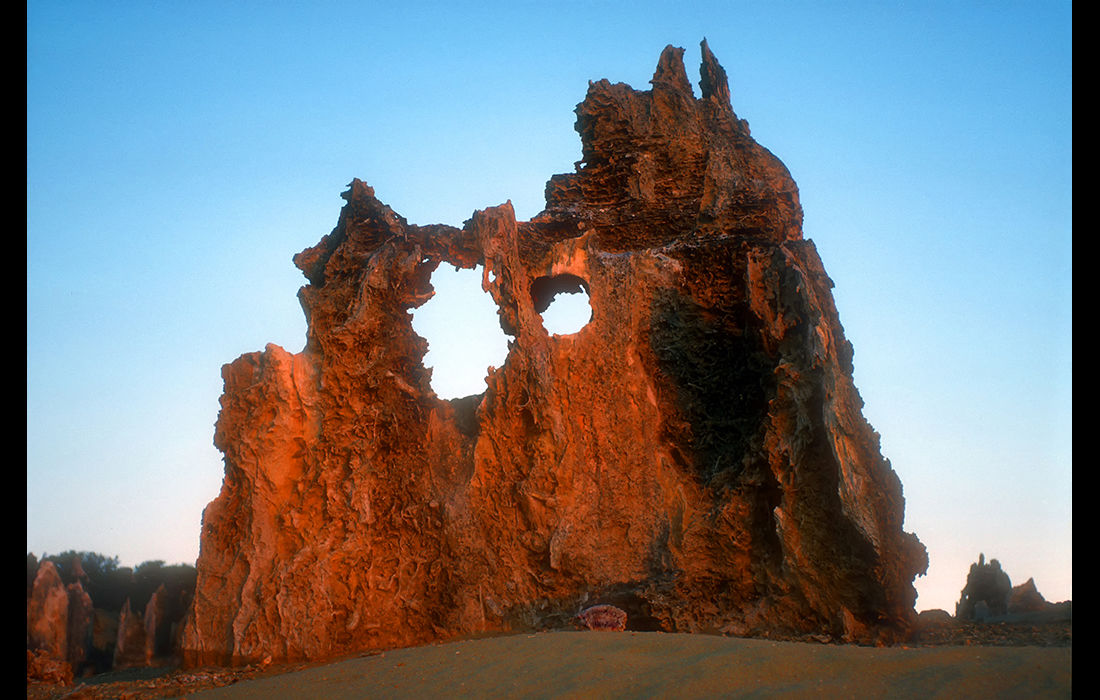 The Pinnacles at dusk, Australia 1989