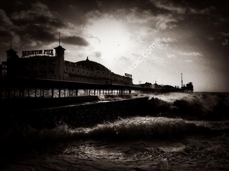 Angry sea.