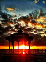 Firey bandstand.