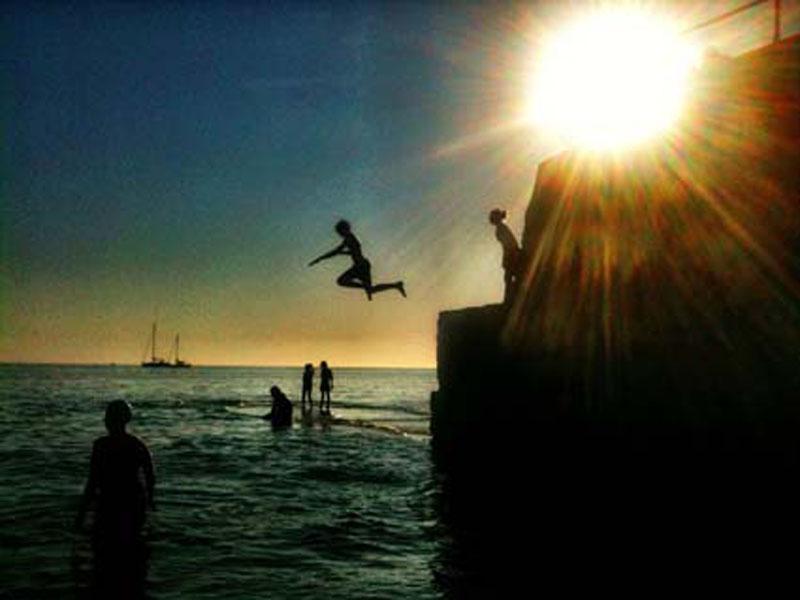 The jump.