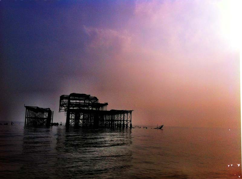 Scary pier.