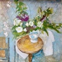 Sprig jug with anemones