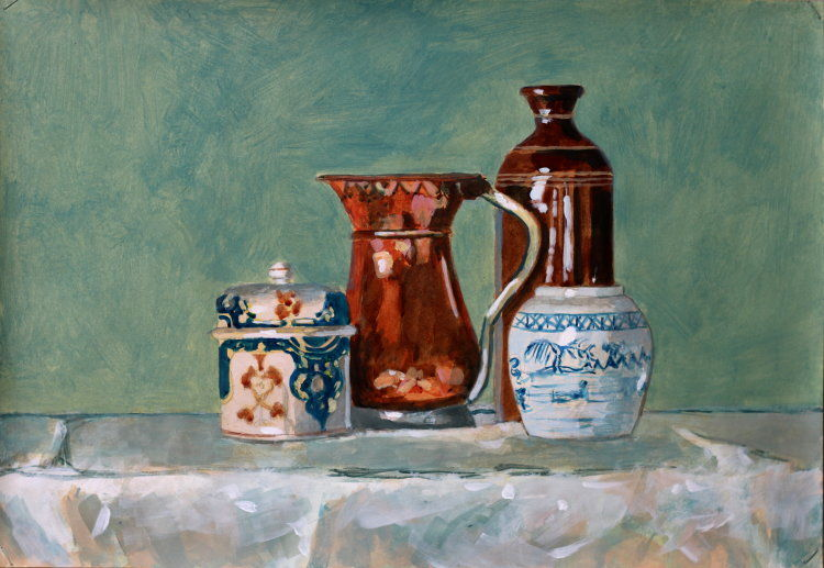 Still life with copper flagon