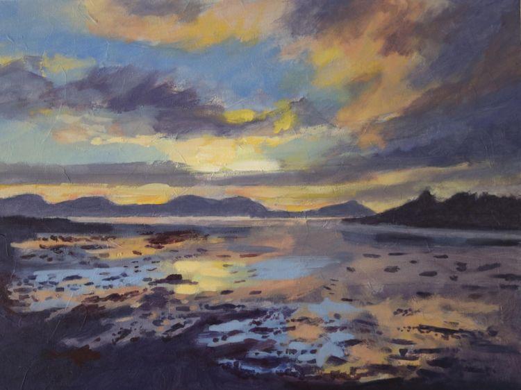 """Sunset at Malin, 12 x 16"""""""