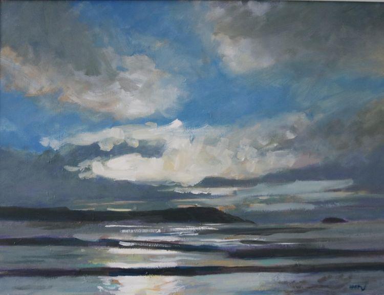 """Sunset at Five Finger Beach, 18 x 24"""""""