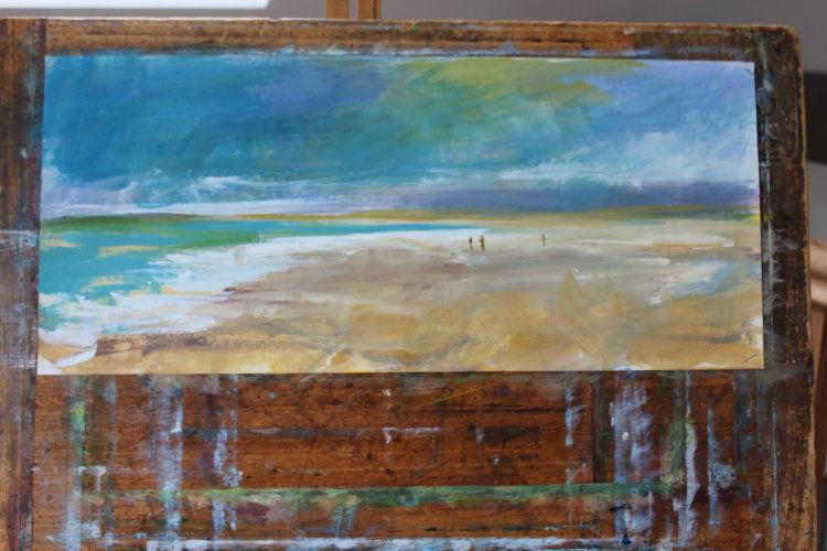 Pollan Bay, Inishowen, acrylic