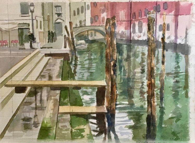 Moorings at San Zanopolo, Venice